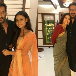 Kajol célèbre Diwali avec Ajay Devgn et leurs enfants Nysa et Yug. Voir les photos | Bollywood