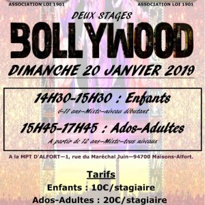 STAGE DE DANSE BOLLYWOOD  20 JANVIER 2019