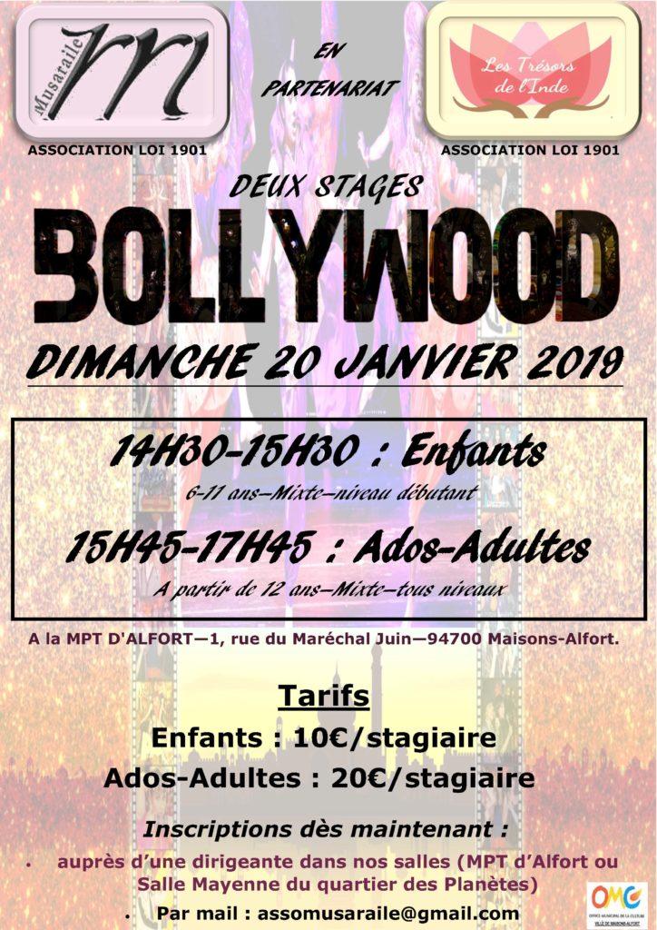 STAGE DE DANSE BOLLYWOOD 20 JANVIER 2019