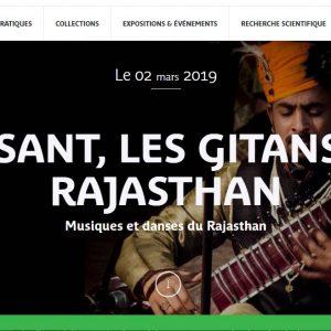 MUSÉE QUAI BRANLY – 2 ET 3 MARS 2019 – WEEK END INDE – BASSANT, LES GITANS DU RAJASTHAN Musiques et danses du Rajasthan