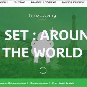 MUSÉE QUAI BRANLY – 2 ET 3 MARS 2019 – WEEK END INDE – DJ SET : AROUND THE WORLD